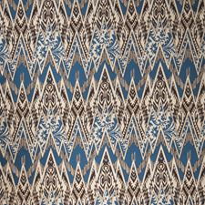 Blue Java Flamestitch Decorator Fabric by Vervain