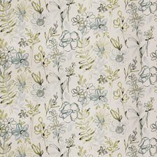 Azure Floral Decorator Fabric by Vervain