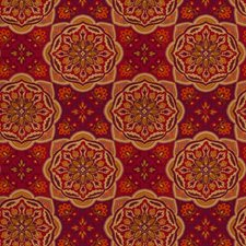 Ruby Geometric Decorator Fabric by Fabricut
