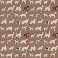 Brown Animal Decorator Fabric by Trend