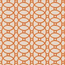 Orange Blossom Embroidery Decorator Fabric by Fabricut