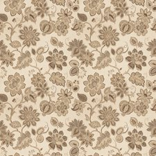 Taupe Floral Decorator Fabric by Trend