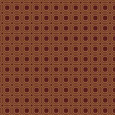 Red Geometric Decorator Fabric by Trend