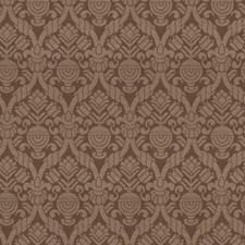 Walnut Damask Decorator Fabric by Vervain