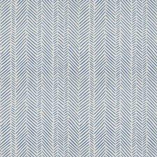 Bluebell Herringbone Decorator Fabric by Stroheim