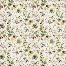 Aqua Sand Floral Decorator Fabric by Trend