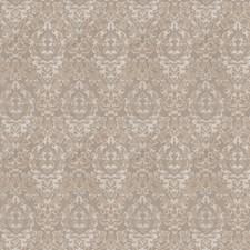 Grey Silver Damask Decorator Fabric by Fabricut