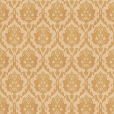 Antique Gold Damask Decorator Fabric by Trend