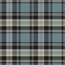 Blue Check Decorator Fabric by Fabricut