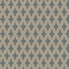 Teal Diamond Decorator Fabric by Fabricut
