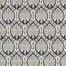 Indigo Medallion Decorator Fabric by Vervain