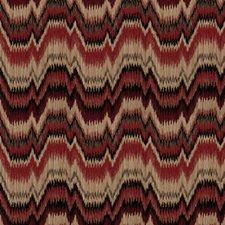 Scarlet Flamestitch Decorator Fabric by Fabricut
