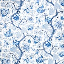 White Floral Decorator Fabric by Stroheim