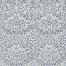 Ice Blue Damask Decorator Fabric by Stroheim