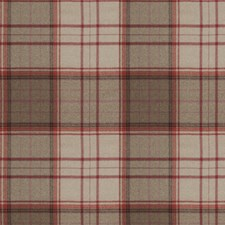 Red Check Decorator Fabric by Stroheim