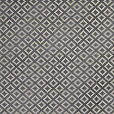Indigo Geometric Decorator Fabric by Stroheim