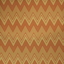 Copper Geometric Decorator Fabric by Stroheim