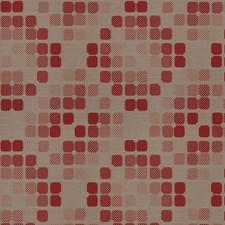 Red Stone Geometric Decorator Fabric by Fabricut