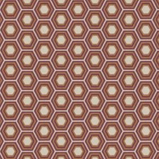 Cognac Geometric Decorator Fabric by Fabricut