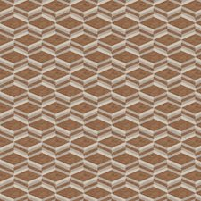 Copper Geometric Decorator Fabric by Fabricut
