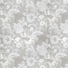 Silver Floral Decorator Fabric by Trend