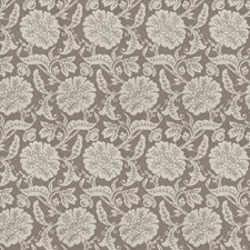 Grey Floral Decorator Fabric by Trend