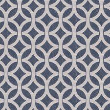 Indigo Lattice Decorator Fabric by Fabricut