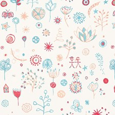 Punch/Turquoise Decorator Fabric by Schumacher