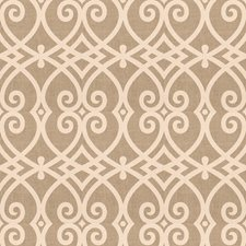 White Geometric Decorator Fabric by Trend