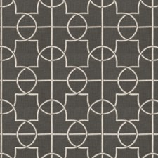 Graphite Embroidery Decorator Fabric by Fabricut
