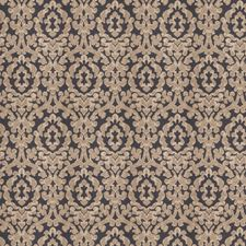 Navy Sparkle Damask Decorator Fabric by Fabricut