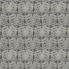 Pewter Embroidery Decorator Fabric by Stroheim
