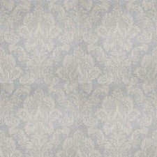 Ice Blue Damask Decorator Fabric by Stroheim