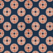 Tangelo On Navy Global Decorator Fabric by Vervain
