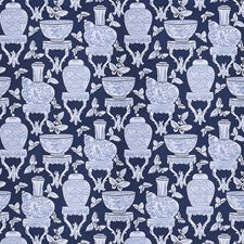 Indigo Asian Decorator Fabric by Fabricut