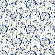 Blue Floral Decorator Fabric by Fabricut