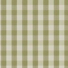 Celery Check Decorator Fabric by Stroheim