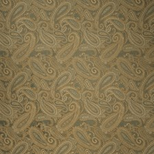 Blue Pewter Paisley Decorator Fabric by Trend