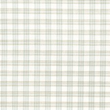 Robin's Egg Check Decorator Fabric by Trend