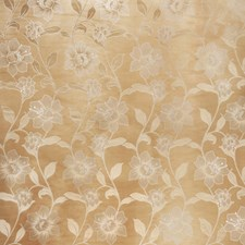 Cream Floral Decorator Fabric by Trend