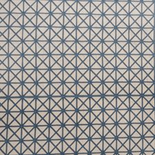 Cobalt Embroidery Decorator Fabric by Trend