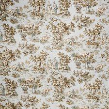 Aqua Print Pattern Decorator Fabric by Trend