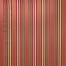 Red Stripes Decorator Fabric by Trend