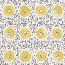 Yellow Floral Medium Decorator Fabric by Duralee