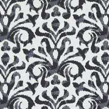 Charcoal Ethnic Decorator Fabric by Duralee
