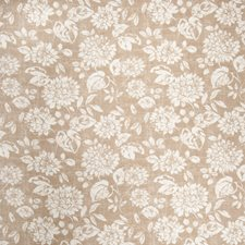 Camel Floral Decorator Fabric by Trend