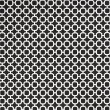 Noir Geometric Decorator Fabric by Trend
