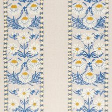 Blue/Ochre Decorator Fabric by Schumacher