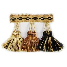 Tassel Black/Linen Trim by Duralee