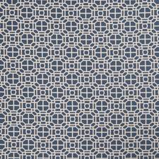 Indigo Geometric Decorator Fabric by Trend